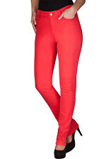 NWT NYDJ NOT YOUR DAUGHTERS JEANS * SKINNY LEG STRETCH DENIM * CANDY APPLE (RED)