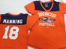 Denver Broncos Football Peyton Manning Ladies V-Neck Jersey Shirt Orange