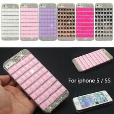 Luxury Bling Diamond Crystal Rhinestone Hard Back Case Fr iPhone 5 5S 6 & 6 Plus