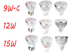 3W 6W 9W 12W 15W MR16 GU10 E27 LED Spotlight Lamp Warm Cool White Bulb Light