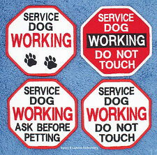 1 SERVICE DOG WORKING PATCH 3.5 INCH DO NOT TOUCH PET Danny & LuAnns Embroidery