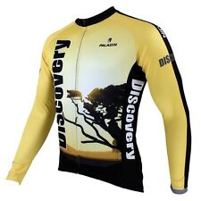 Sunset Tree Discovery Cycling Clothing Bicycle Long Sleeve Jersey Top Bike Wear