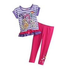 MY LITTLE PONY Girls 2T 3T 4T Set OUTFIT Shirt Pants RAINBOW DASH Pinkie Pie