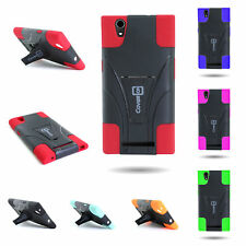 Heavy Duty Hybrid Dual Layer Kickstand Phone Cover Case for ZTE Zmax