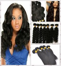 "3 Bundles100% Unprocessed BRAZILIAN Virgin Hair Extensions Wave Straight 10""-14"""