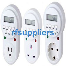 Weekly Digital Timer Socket Plug-in Time Switch Children Protector EU UK USA New