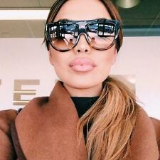 Fashion Designer Flat Top Aviator Square Oversized Celine Style Women Sunglasses