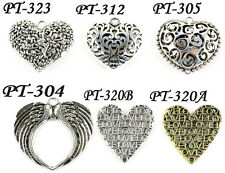 6 styles retail & wholesale heart pendant DIY jewelry findings scarf accessories