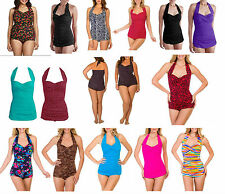 NEW Suddenly Slim Catalina Women's Slimming  Halter 1PC Swimsuit Bathing Suit