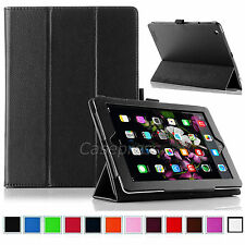 Luxury Folio Stand Smart Magnetic PU Leather Case Cover For New Apple iPad 2 3 4