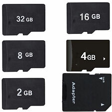 Hot Sale 2GB 4GB 8GB 16GB MicroSD Micro SD TF Memory Card + Adapter + Case