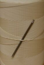 RITZA TIGRE WAXED HAND SEWING THREAD FOR LEATHER/CANVAS  & 2 NEEDLES - CREAM