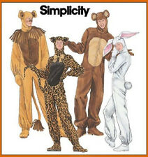 Sew & Make Simplicity 4457 4855 SEWING PATTERN - Adult COSTUMES BUNNY BEAR LION
