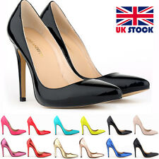 WOMENS 302-1PA HIGH HEELS POINTED CORSET STYLE WORK PUMPS COURT SHOES UK STOCK