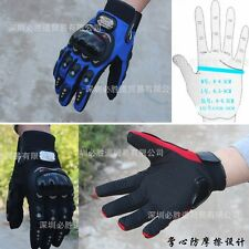 Cycling Bike Bicycle FULL finger gloves Motorcycle racing gloves Blue and black