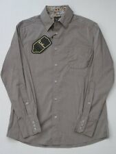 CAMINO GREY DA VINCI CHARLIE SHEEN LONG SLEEVE SHIRT Button Up NEW FLORAL POCKET