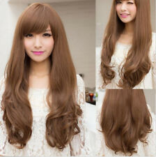 4 Colors Women's Full Wigs Long Curly Wavy Hair Wig Cosplay Party Halloween+Cap