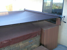 Hot Tub Spa Sun Shade Screen Roller System Patio Canopy Top Cover Retractable