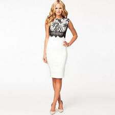 Fashion Women's Sxey Hip-wrapped Round Sleeveless Good Quality Lady Party Dress
