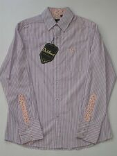 TRANSPORTER RED STRIPE BLUE DA VINCI CHARLIE SHEEN LONG SLEEVE SHIRT Button Up
