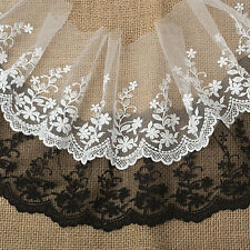 """5""""*1yard delicate embroidered tulle lace trim for crafts DIY 2 colors"""