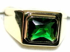 Men's 6c Emerald Solitaire Ring  May Birthstone