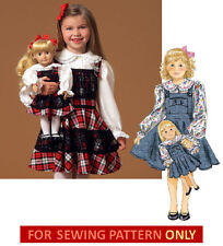 SEWING PATTERN! MAKE MATCHING JUMPER FOR GIRL~DOLL! FITS AMERICAN GIRL MCKENNA!