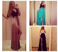 Women New Sexy maxi slit bodycon bandage Casual Party prom long Evening Dress FR