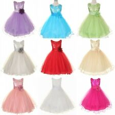 2015 Sequin Tutu Flower Girl Dress Mesh flower Girl Toddler Wedding