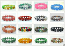 Beautiful Natural 12mm/14mm Jade/Agate Round  Beads Stretchy Bracelet