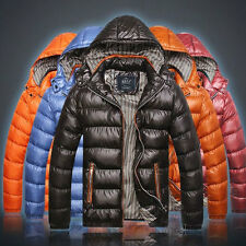 2014 New Men's Winter Hooded Warm Padded Coat Down Cotton Coat Zip Thick Jacket