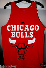 DERRICK ROSE #1 NBA CHICAGO BULLS ADIDAS PLAYER ADULT RED TANK-TOP T-SHIRT NWT