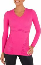 Shock Absorber Ultimate Body Support Long Sleeve Sports Top S015G Pink