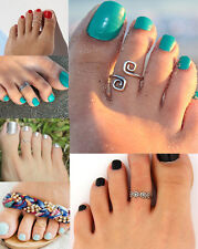 New 100% Celebrity Fashion Simple Retro Designs Adjustable Toe Ring Foot Jewelry