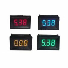 3 Wire Mini Digital Voltmeter Panel Meter 0-99.9V DC 100V Red Green Blue Yellow