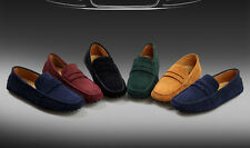 New Mens Faux Suede Casual Loafers Moccasins Slip on Shoes Avail. UK Sizes 5-10