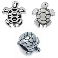 925 Sterling Silver TURTLE European Charm Bead