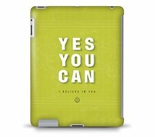 Yes You Can Motivational Quote Tablet Hard Shell Case for iPad, Kindle, Samsun..