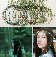 Boho Bridesmaid Floral Flower Festival Wedding Forehead Head Hair band Garland