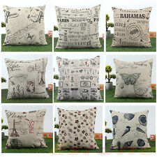 Home Decor 45x45cm Classic European Cotton Linen Cushion Cover Throw Pillow Case