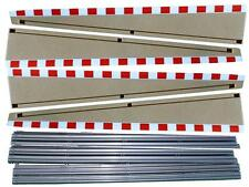 SCALEXTRIC SPORT C8233 LEAD IN LEAD OUT BORDERS AND BARRIERS BEIGE RED WHITE