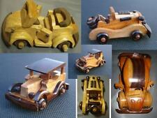 hand crafted wooden model vintage car VW Beetle convertible wood classic vehicle