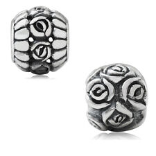 925 Sterling Silver ROSE/FLOWER European Charm Bead