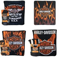 Harley Davidson 50x60 Fleece Throw Blanket - Multiple Styles