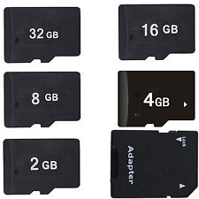 2GB 4GB 8GB 16GB MicroSD Micro SD TF Memory Card + Adapter + Case For Galaxy S5