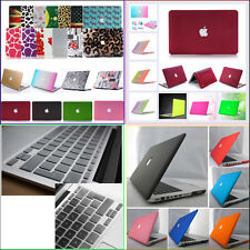 "Rubberized Hard Case+EU/ UK Clear Keyboard Cover for Macbook Air Pro 11"" 13"" 15"""
