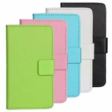 Color leather slot wallet stand flip Protective Cover Skin Case for Sony Xperia