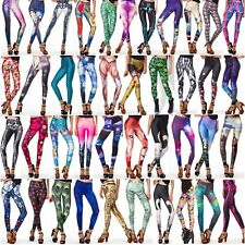 2014 Sexy 3D Graphic Colourful Print Women Stretchy Leggings Pant Yoga Gym Funky