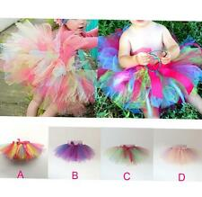 Girls Kids Cute Tutu Skirt Bowknot Party Ballet Dancewear Pettiskirt Costume New