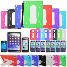 Heavy Duty Builders Shock Proof Kick Stand Case Cover For Various Mobile/Tablets